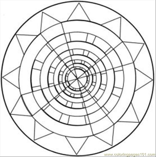 Kaleidoscope 25 Med Coloring Page