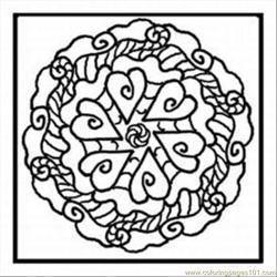 Kaleidoscope 10 Med coloring page