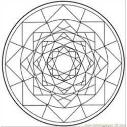 Kaleidoscope 11 Med coloring page