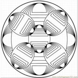 Kaleidoscope 16 Free Coloring Page for Kids