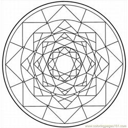 Kaleidoscope 1 Lrg coloring page