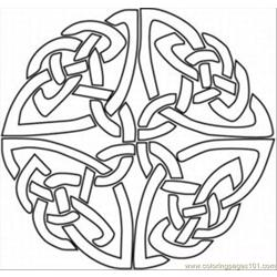 Kaleidoscope 1med Free Coloring Page for Kids