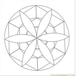 Kaleidoscope 21 Med Free Coloring Page for Kids