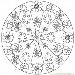 Kaleidoscope 2lrg Free Coloring Page for Kids