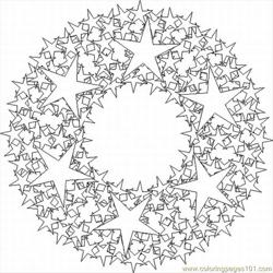 Kaleidoscope 5 Lrg Free Coloring Page for Kids