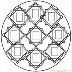 Kaleidoscope 5 Free Coloring Page for Kids