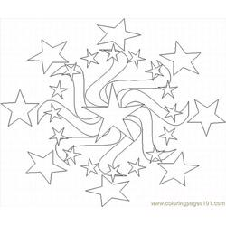 Kaleidoscope 6 Lrg Free Coloring Page for Kids