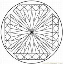 Kaleidoscope 8 Free Coloring Page for Kids