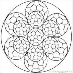 Kaleidoscope Med Free Coloring Page for Kids