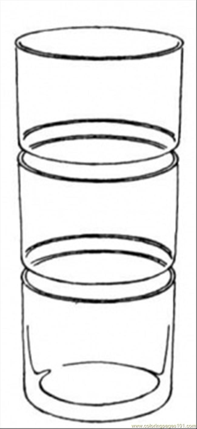 Glass Cup Coloring Page Glass Coloring Page Color