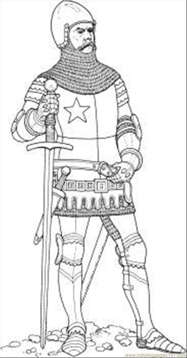Knight Coloring Page Free knights