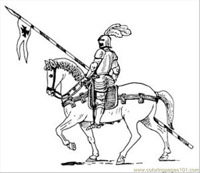 knight horse05 coloring page - Knight Coloring Pages