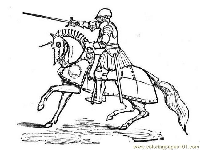 Knightonhorse coloring page free knights coloring pages for Knight on horse coloring page