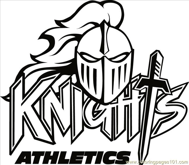 knights logo b2bw coloring page - Knight Coloring Pages