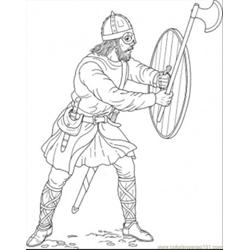 Otects The Door Coloring Page