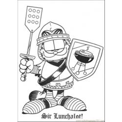 Sir Lunchalot Coloring Page