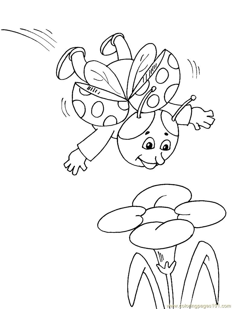 coloring pages of flying ladybugs - photo#6