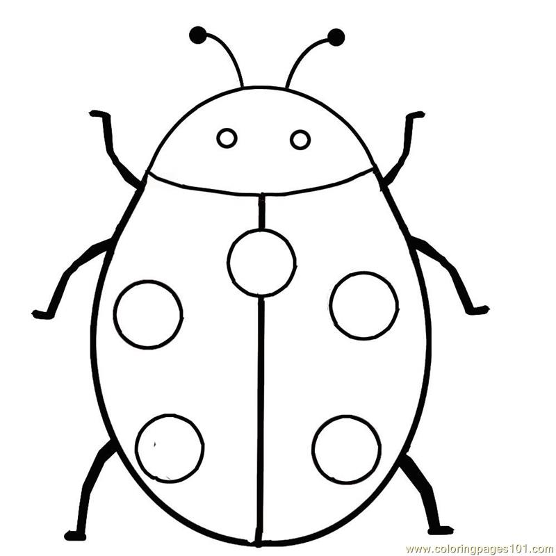Ladybug coloring page free ladybugs coloring pages for Coloring pages of ladybugs