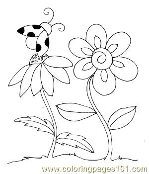 Ladybug spring small Coloring Page