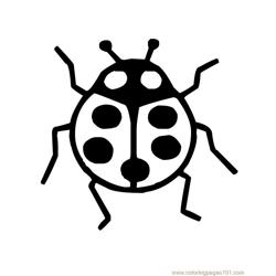 Ladybug Free Coloring Page for Kids