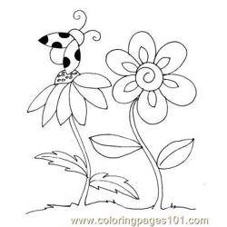 Ladybug spring small Free Coloring Page for Kids