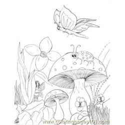 Ldybug holiday Free Coloring Page for Kids