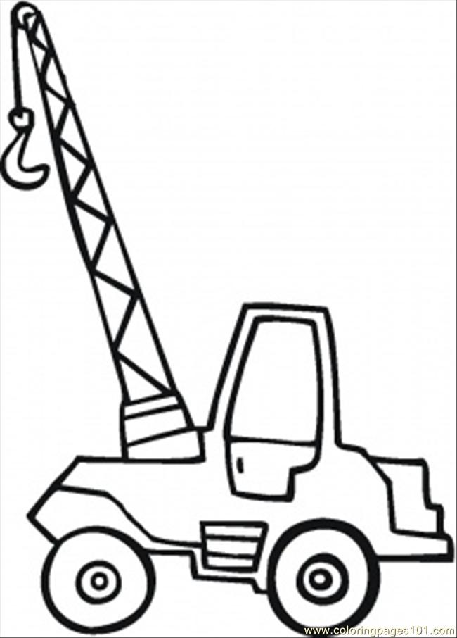 Little Crane Coloring Page Coloring