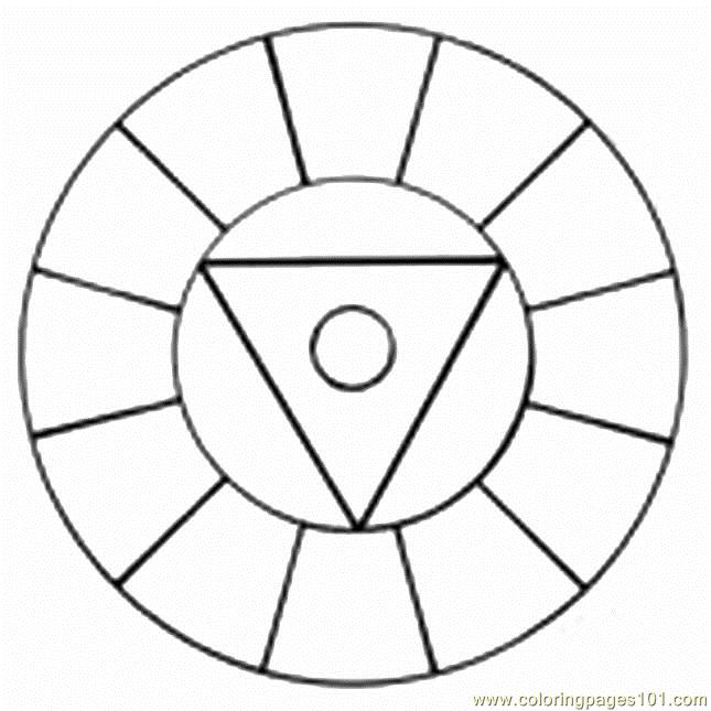 Color Wheel Coloring Page Color Wheel 1a Coloring Page