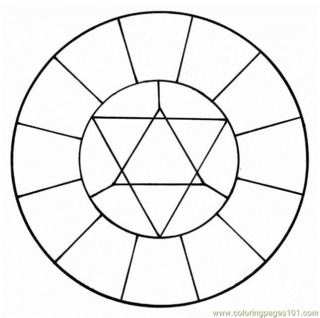 Color Wheel Coloring Page Color Wheel 3 Coloring Page