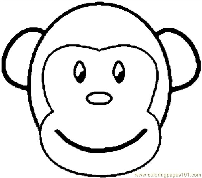 Free Printable Coloring Pages of Monkeys Coloring Monkey Coloring Page