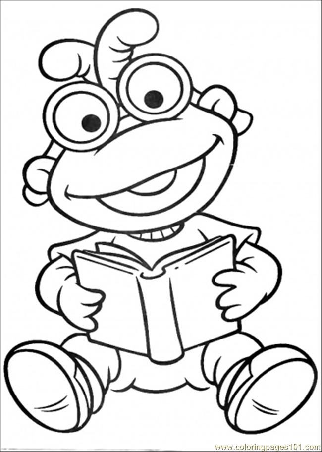 animals reading books coloring pages