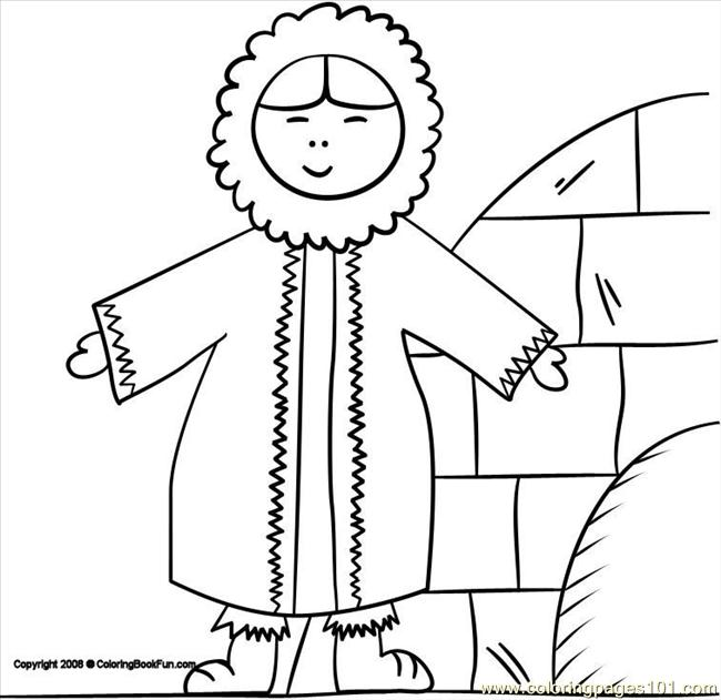 Alaska eskimo coloring page pages 541x556