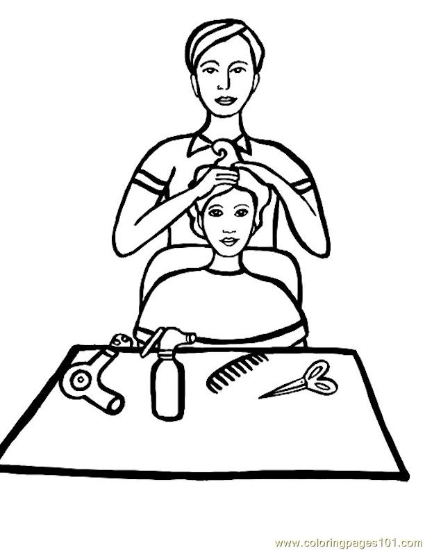 Hair salon coloring pages ~ Natural Hair Salons Coloring Pages