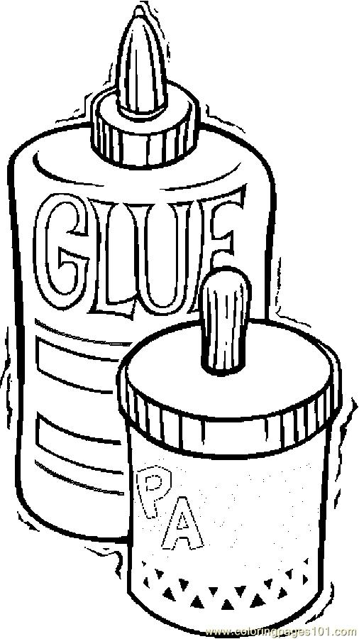 Glue Amp Paste Coloring Page Free School Coloring Pages