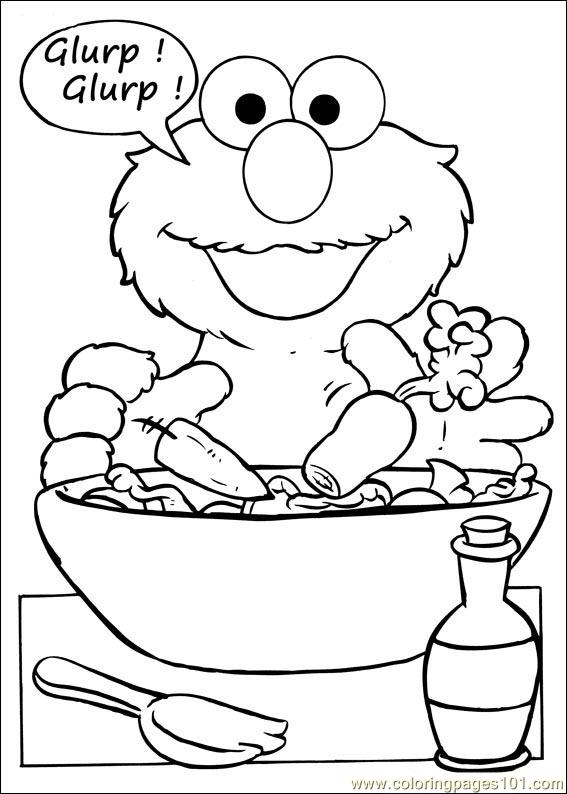 Elmo Thanksgiving Coloring Pages Sesame Street 66 Coloring Page