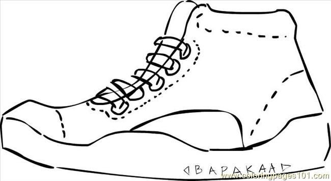 Shoe Coloring Page Sneakers+bapakaa Coloring