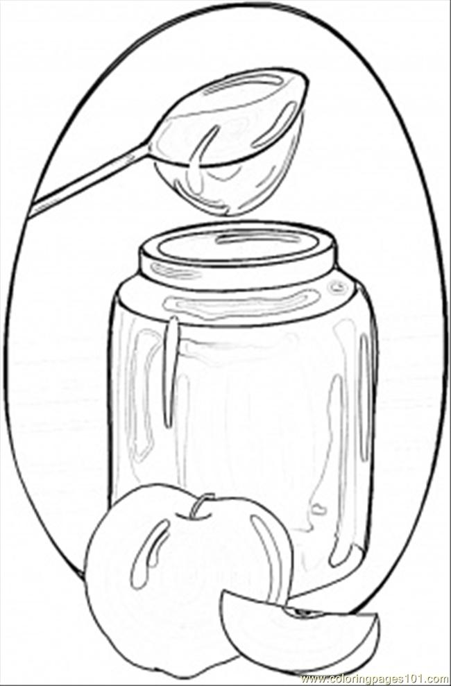 Honey And Apples Coloring Page