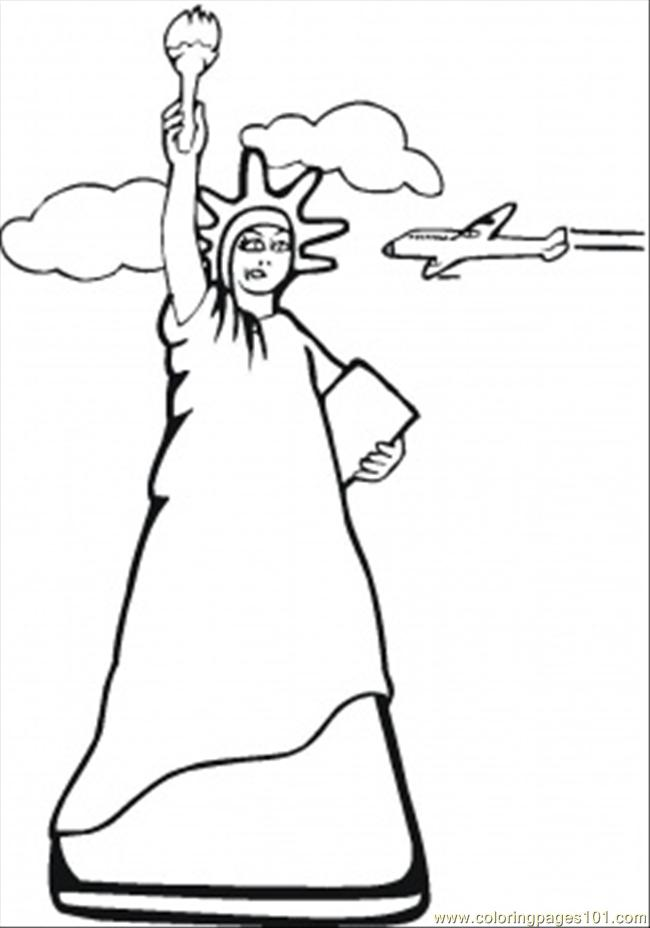 Statue Of Liberty New York Printable Coloring Page For Usa Hat Coloring Pages Usa