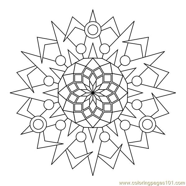 Circle Decorative Coloring Page