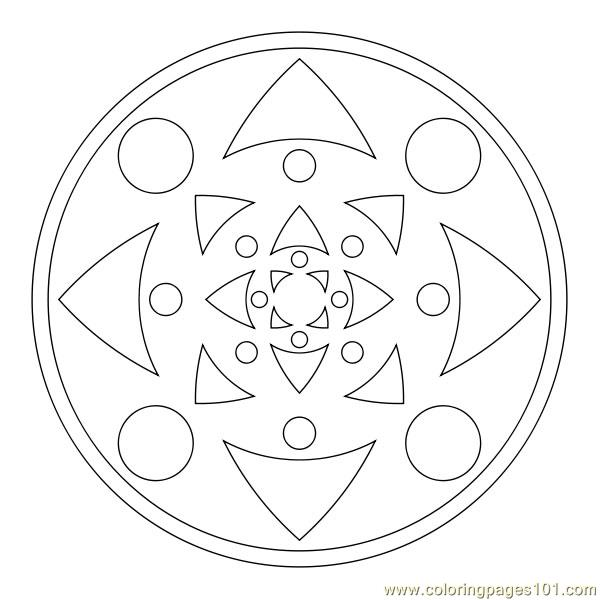Two circle triangle Coloring Page