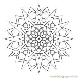 Circle Decorative Free Coloring Page for Kids