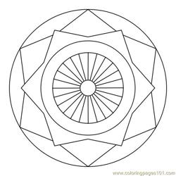 Star circle Free Coloring Page for Kids