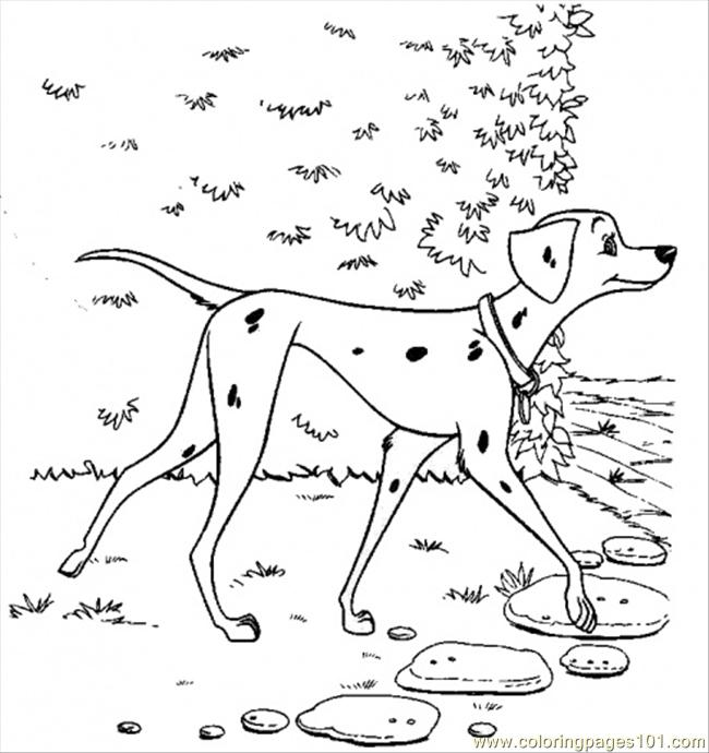 Coloring Pages Pretty Perdita Cartoons gt 101 Dalmations