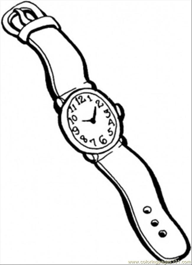 Coloring Pages Watch For Men (Accessories) - free printable coloring title=