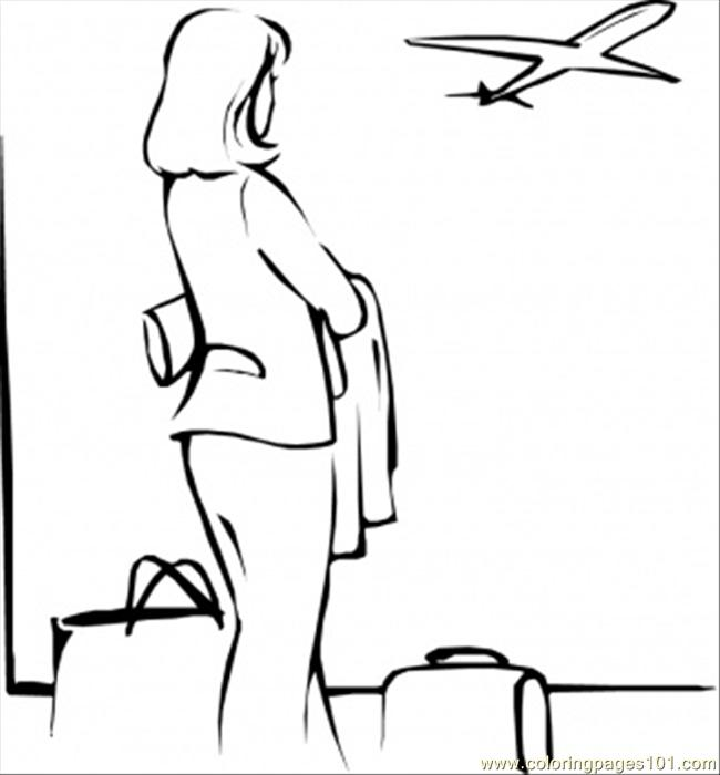 free coloring pages of airport airplane