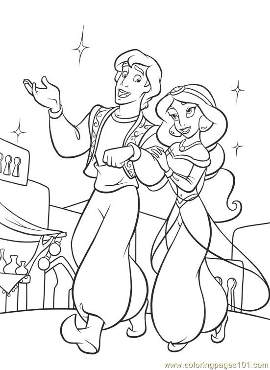 alladin castles coloring pages | Printable Coloring Pages Aladdin Cast Coloring Pages