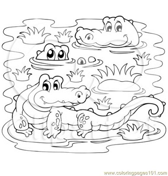 Coloring Pages Of Wetland Animals : Free coloring pages of baby crocodile