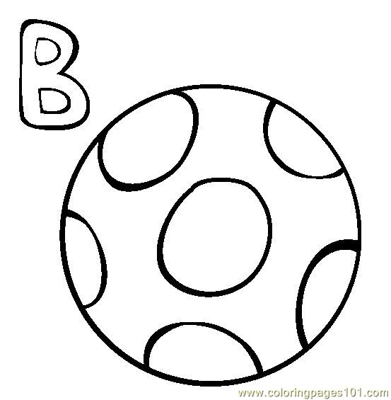 free ball coloring pages - photo #24