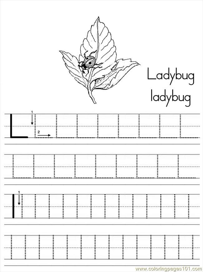 coloring page Alphabet Abc Letter L Ladybug Coloring Pages