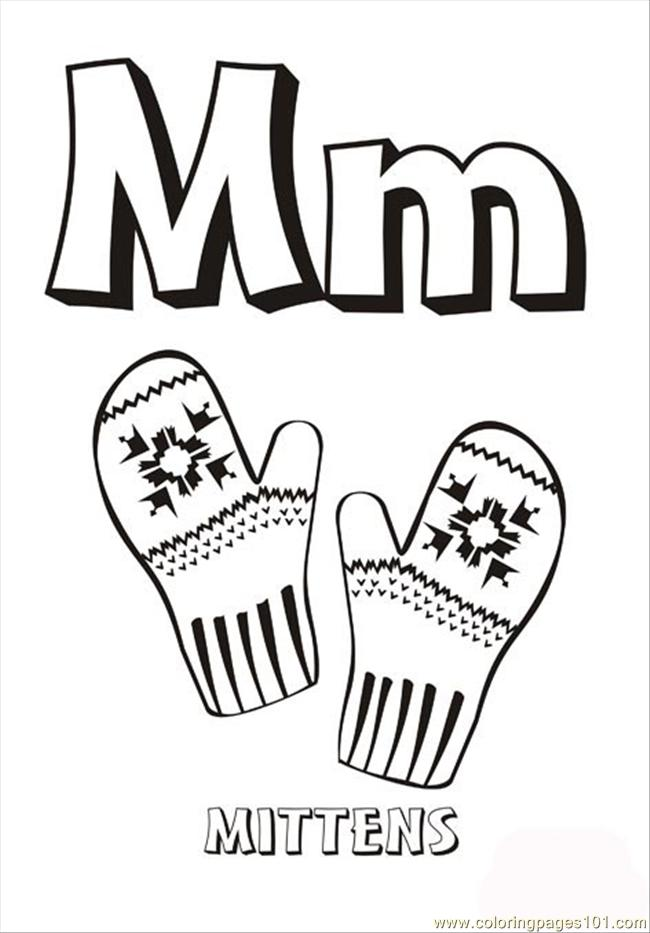 Free The Letter M Coloring Pages